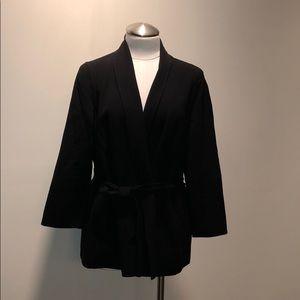 Black Jacket with Tie Closure